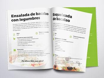 Llibre de receptes bacallà Ecoviand 1