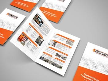 Diseño de díptico y tríptico para empresas