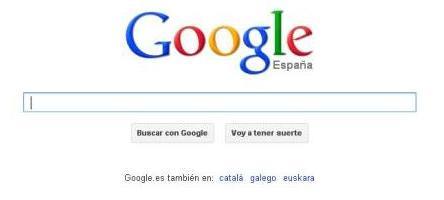 Homepage Google
